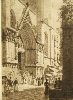 Axel Herman Haig pencil signed 'Barcelona' 1919